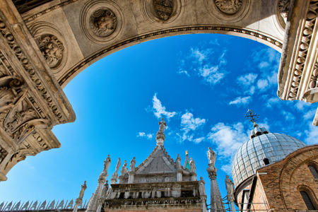 ducale: Inner court of Palazzo Ducale (Doges Palace) in Venice, Italy