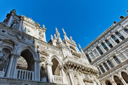 palazzo: Exterior of Palazzo Ducale (Doges Palace) in Venice, Italy