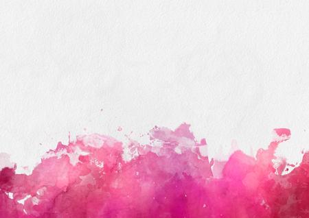 Colorful modèle de peinture aquarelle rouge avec une bordure inférieure de l'effet peinture splash et blanc copie espace blanc au-dessus Banque d'images - 52465109