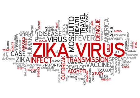containment: ZIKA Virus (ZIKA-Virus) as abstract concept art Stock Photo