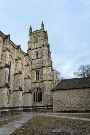 winchester: WINCHESTER, UK - FEBRUARY 07, 2016: Exterior of Winchester College chapel. February 07, 2016 in Winchester, UK.