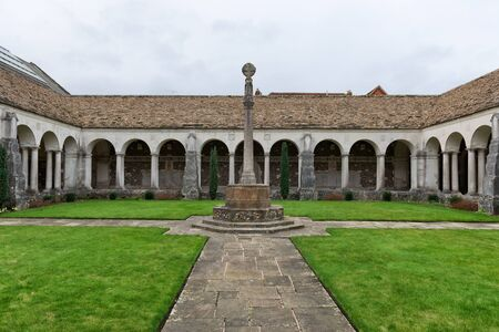 winchester: WINCHESTER, UK - FEBRUARY 07, 2016: War cloister at Winchester College. this cloister serves as a memorial to the Wykehamist dead of the two World Wars. February 07, 2016 in Winchester, UK.