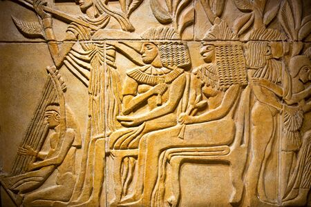 Ancient historic egyptian stone relief