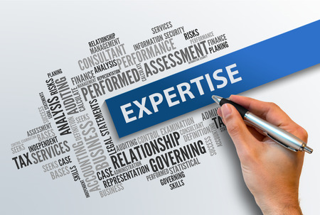 expertise concept: EXPERTISE | Business Abstract Concept Stock Photo