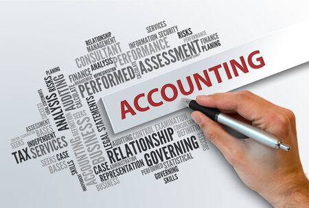 total loss: ACCOUNTING | Business Abstract Concept Stock Photo