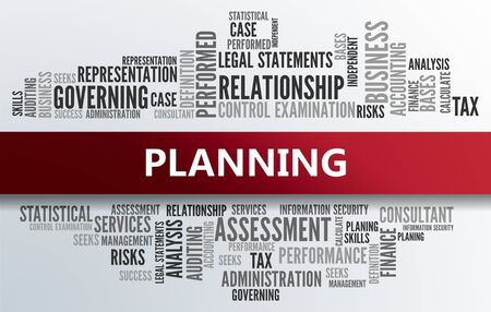 allocation: PLANNING | Business Abstract Concept Stock Photo