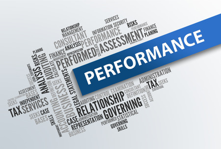 business performance: PERFORMANCE | Business Abstract Concept