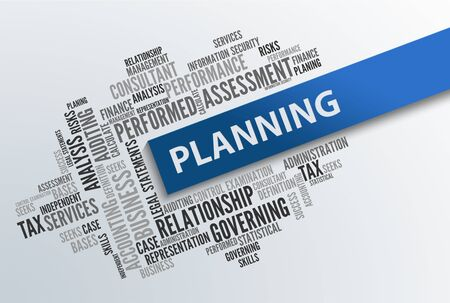 planning: PLANNING | Business Abstract Concept Stock Photo