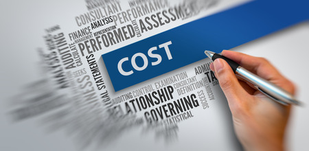 business management: COST | Business Abstract Concept
