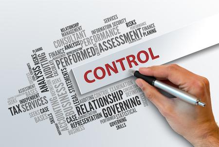 CONTROL | Business Abstract Concept Foto de archivo