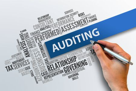 word cloud: AUDITING | Business Abstract Concept Stock Photo