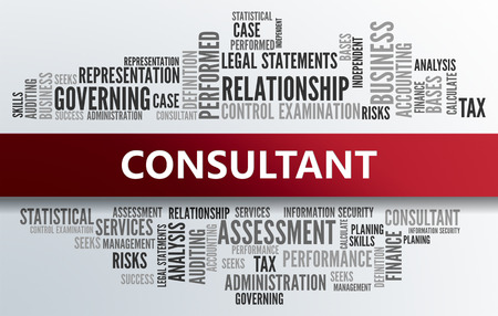 consultant: CONSULTANT | Business Abstract Concept