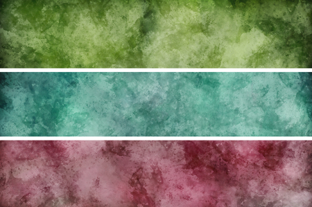 painterly: Horizontal strips of blue, purple and green cloud, watercolor painterly effected or random marble rock backgrounds with copy space