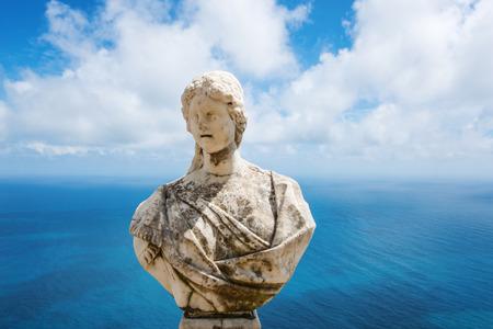 amalfi: Statue above the Amalfi Coast, Villa Cimbrone, Ravello, Italy