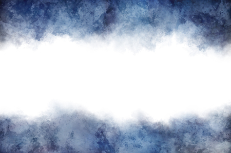 dark clouds: White copy space surrounded by dark clouds at top and bottom for concept about depression or something unknown