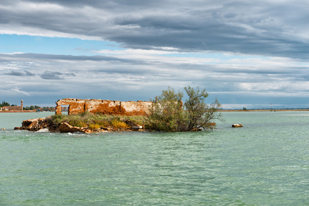 navigable: Adriatic sea and Lagoon of Venice in Italy Stock Photo