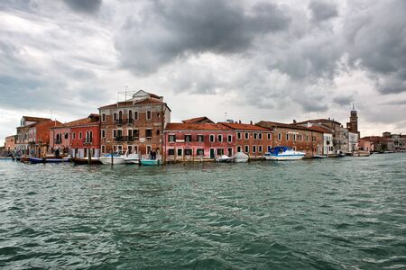 Murano: Murano island with its historic houses in Italy. Murano is famous for its glass manufacturing.