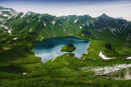 tal: Schrecksee, an alpine lake in the Allgaeu alps near Hinterstein, Bavaria, German