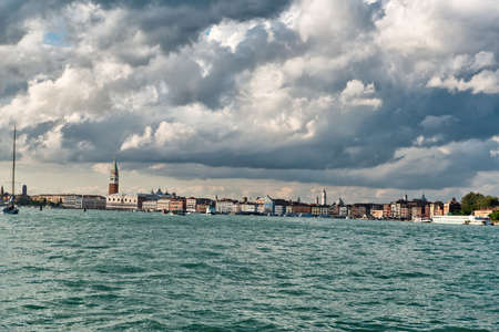 Sea View of Piazza San Marco with Campanile and Doge Palace in Venice, Italy