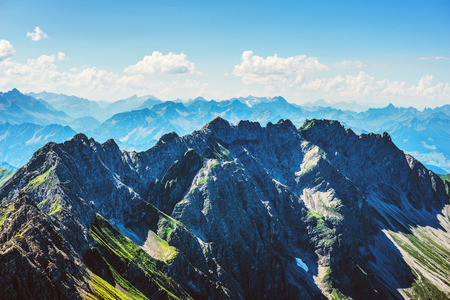 Beautiful mountain scenery of Allgau Alps at the southern end of Germany in Europe