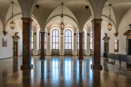 Augsburg, Germany - September 08, 2016: Interior of the historic town hall, Augsburg, Bavaria, Germany one of the most important secular renaissance stye buildings in the Alps Editorial