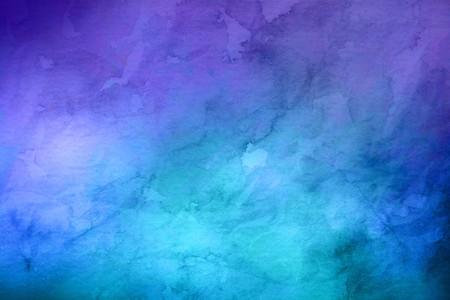 전체 프레임 파란색과 보라색 배경 닮은 수채화 그림 복사 공간