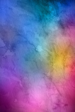 Full frame blue, pink, yellow and purple background resembling watercolor painting with copy space