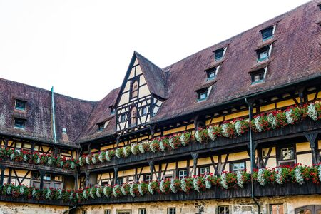 alte: Old court (Alte Hofhaltung) in Bamberg, Germany. It still contains fragments of masonry from the great hall of the 11th-century palace. Editorial