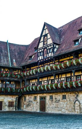 11th: Old court (Alte Hofhaltung) in Bamberg, Germany. It still contains fragments of masonry from the great hall of the 11th-century palace. Editorial