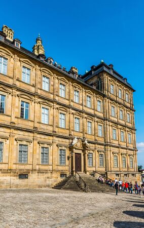 residenz: Historic Facade of the Neue Residenz (New residence) in Bamberg, Germany Editorial