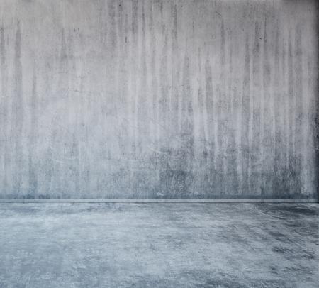 抽象的な灰色産業コンクリート壁面・床面の背景にコピー スペース