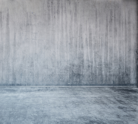 Abstract gray industrial concrete wall and floor background with copy space