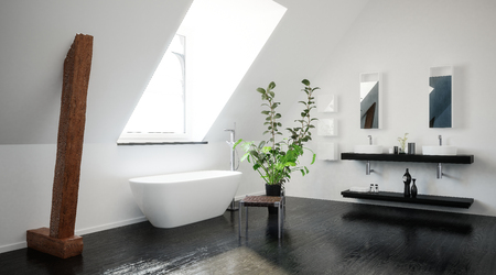 Hotel oder penthouse bad in minimalistische interieur design mit