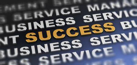 SUCCESS | Modern Text Banner. 3d Rendering.