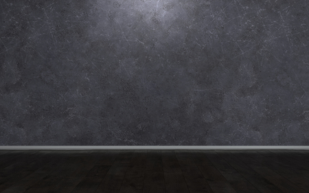 Dark grey marble wall background concept with black horizontal line of floor. Copy space