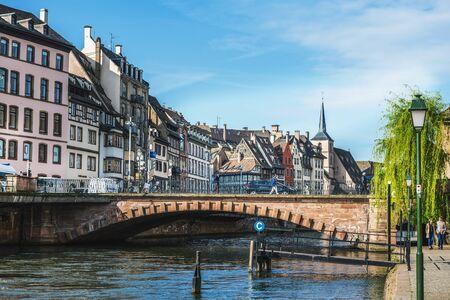 STRASBOURG (FRANCE) - 13 April 2017: Cityscape of Strasbourg in Alsace, France.