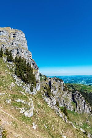 Alpine scenery and geology at Aggenstein Mountain
