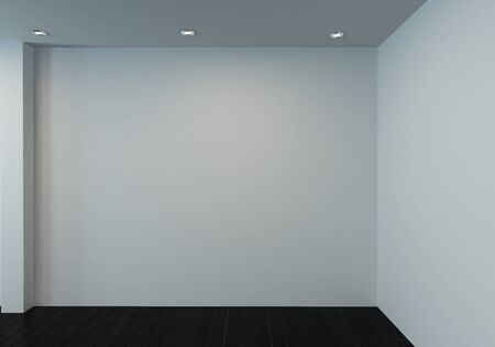 Unfurnished room with blank white walls and wooden floor