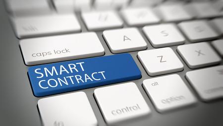 Smart Contract. 3d Rendering. Lizenzfreie Bilder