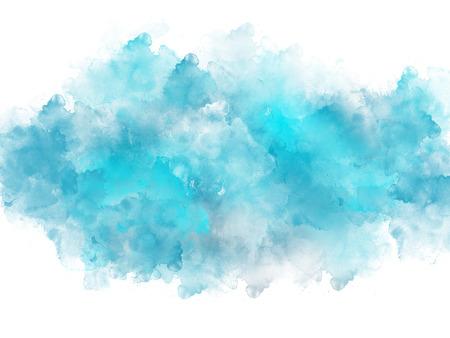 Artistic blue watercolor splash effect template on white background Lizenzfreie Bilder