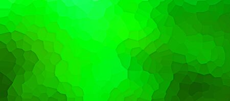 Colourful textured green panorama banner with artistic irregular graduated pattern with layer effect and copy space
