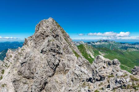 North summit of Grosser Wilder (Big Wild) mountain near Oberstdorf, Allgäu Alps, Germany