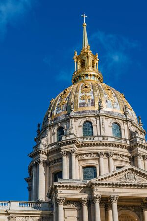 Cupola of Cathedral Les Invalides in Paris, France