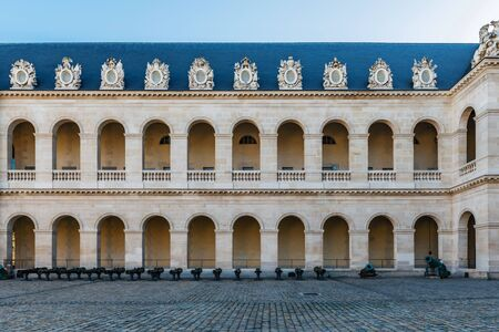 Inner courtyard of Cathedral of Saint Louis (Les Invalides), Paris