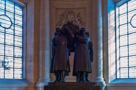 PARIS, FRANCE - November 2017: Tomb of Ferdinand Foch inside the Cathedral Les Invalides, Paris, France