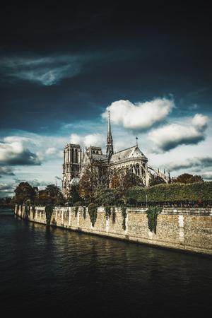 The Cathedral of Notre Dame de Paris, France Standard-Bild