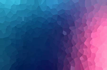 Gradient blue through magenta to pink background with crackle texture of irregular polygons in a full frame view Stock Photo