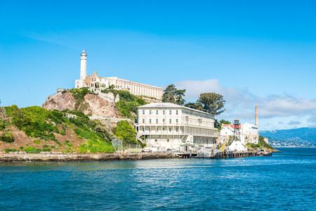 Alcatraz Prison Island in San Francisco, California, USA.