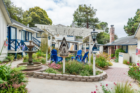 CARMEL-BY-THE-SEA, USA - May 13 2018: Picturesque house in Carmel-by-the-Sea, Monterey Peninsula, California Editorial