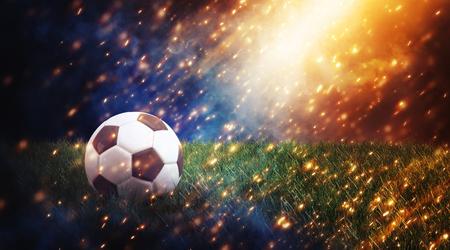 soccer ball on dark background. 3d Rendering